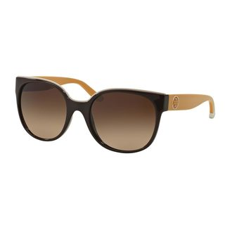 Tory Burch Women's TY9042 Brown Plastic Square Sunglasses
