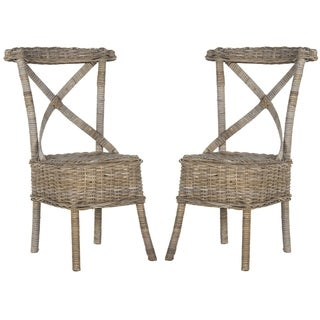 Safavieh Katell Grey Rattan Side Chair (Set of 2)