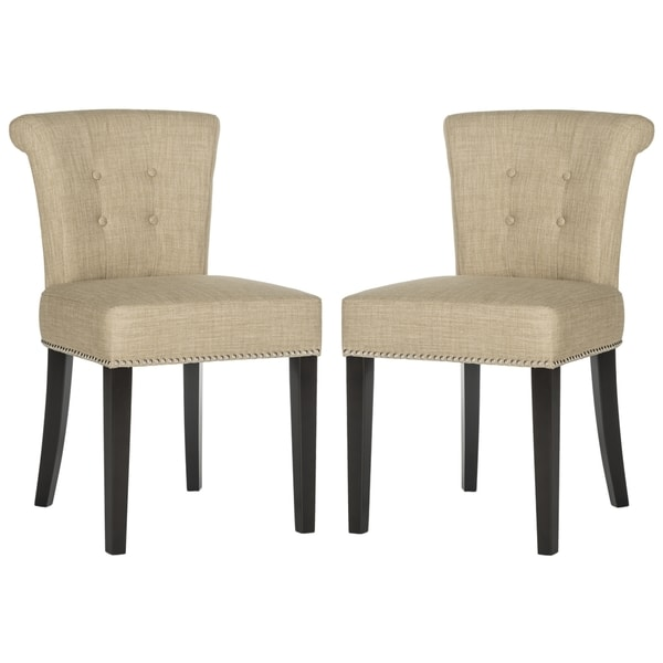 Safavieh Sinclair Beige Ring Chairs (Set of 2)