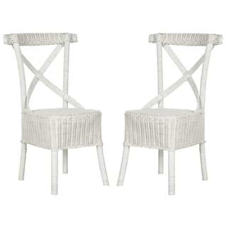 Safavieh Katell White Rattan Side Chair (Set of 2)