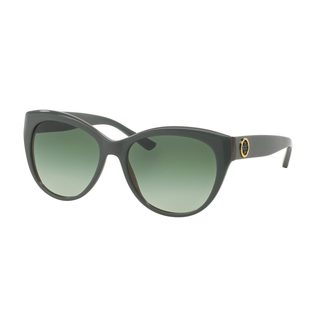 Tory Burch Women's TY7084 Olive Plastic Cat Eye Sunglasses