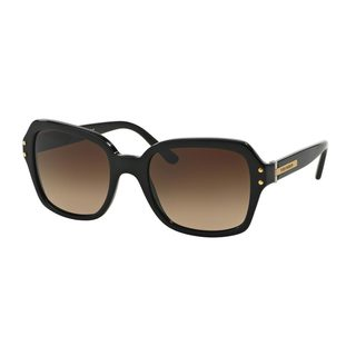 Tory Burch Women's TY7082 Black Plastic Square Sunglasses