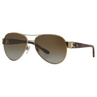 Ralph Lauren Women's RL7047Q Gold Metal Pilot Polarized Sunglasses