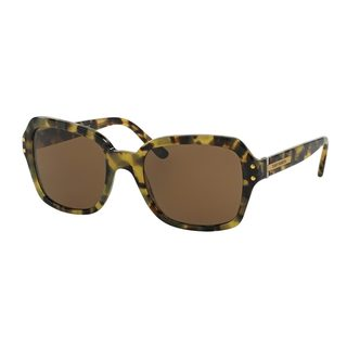 Tory Burch Women's TY7082 Olive Plastic Square Sunglasses