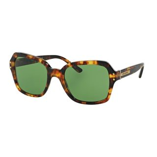Tory Burch Women's TY7082 Tortoise Plastic Square Sunglasses