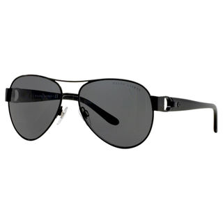 Ralph Lauren Women's RL7047Q Black Metal Pilot Sunglasses