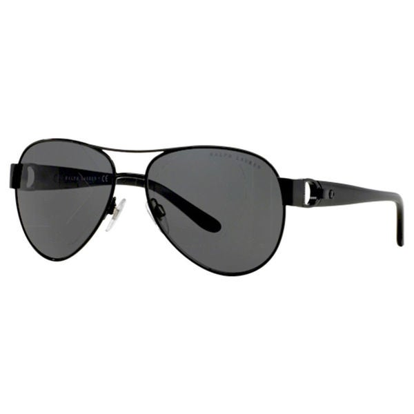 Ralph Lauren Women's RL7047Q Black Metal Pilot Sunglasses