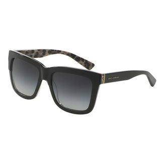 Dolce & Gabbana Women's DG4262 Black Plastic Square Sunglasses