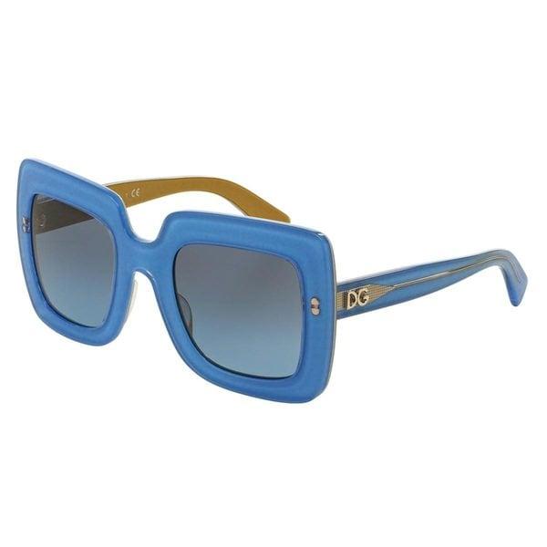 Dolce & Gabbana Women's DG4263 Blue Plastic Square Sunglasses