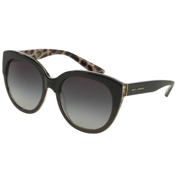 Dolce & Gabbana Women's DG4259 Black Plastic Round Sunglasses