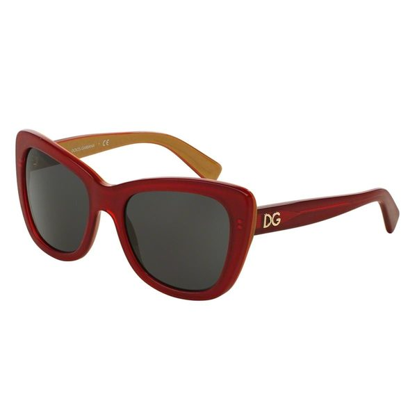 Dolce & Gabbana Women's DG4260 Gold Plastic Butterfly Sunglasses