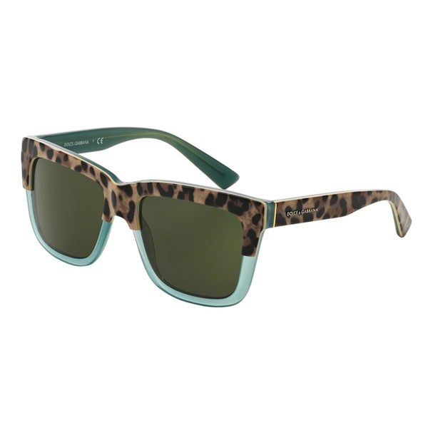 Dolce & Gabbana Women's DG4262 Green Plastic Square Sunglasses