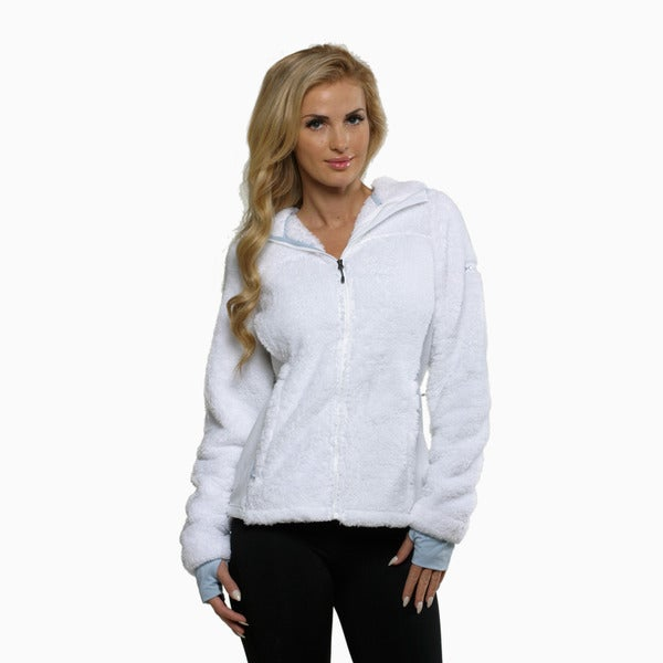 Columbia Women's White Polar Yeti Plush Fleece Jacket