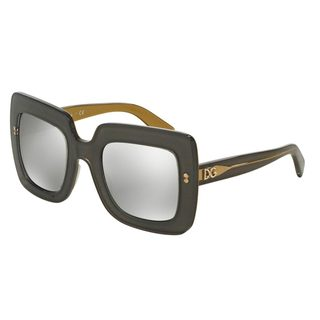 Dolce & Gabbana Women's DG4263 Grey Plastic Square Sunglasses