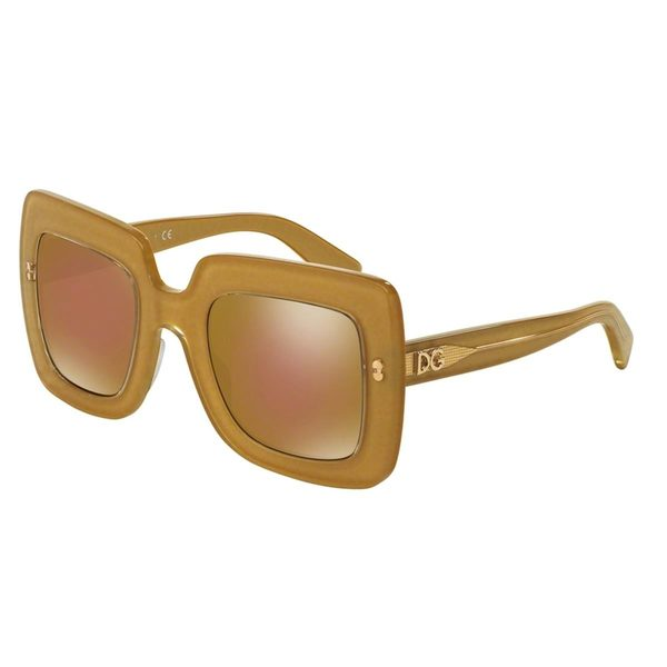 Dolce & Gabbana Women's DG4263 Gold Plastic Square Sunglasses