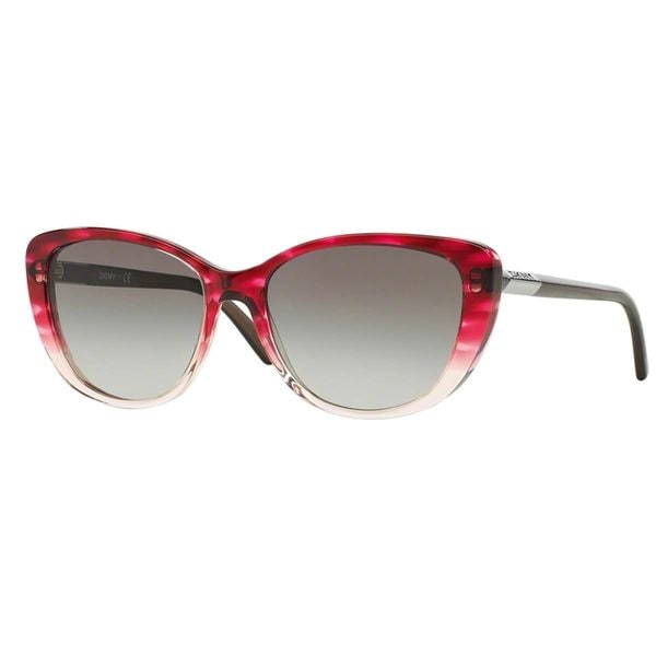 DKNY Women's DY4121 Pink Plastic Cat Eye Sunglasses