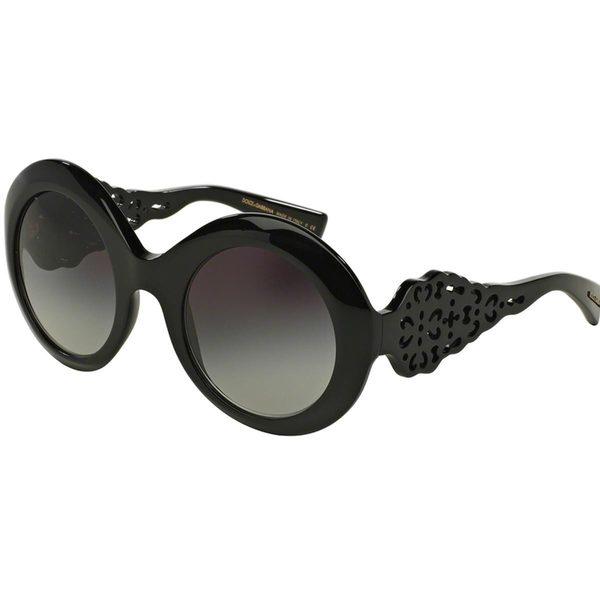 Dolce & Gabbana Women's DG4265 Black Plastic Round Sunglasses