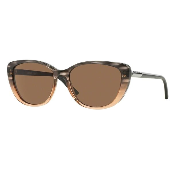 DKNY Women's DY4121 Brown Plastic Cat Eye Sunglasses