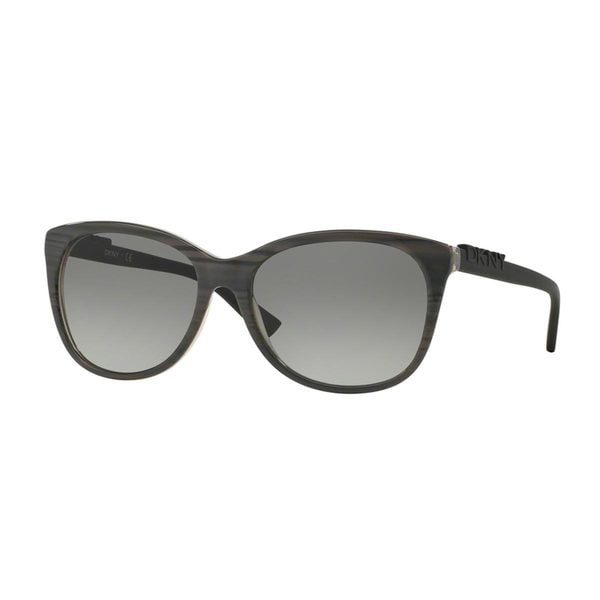 DKNY Women's DY4126 Grey Plastic Square Sunglasses