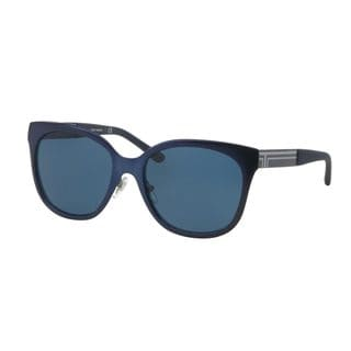 Tory Burch Women's TY6045 Blue Metal Square Sunglasses