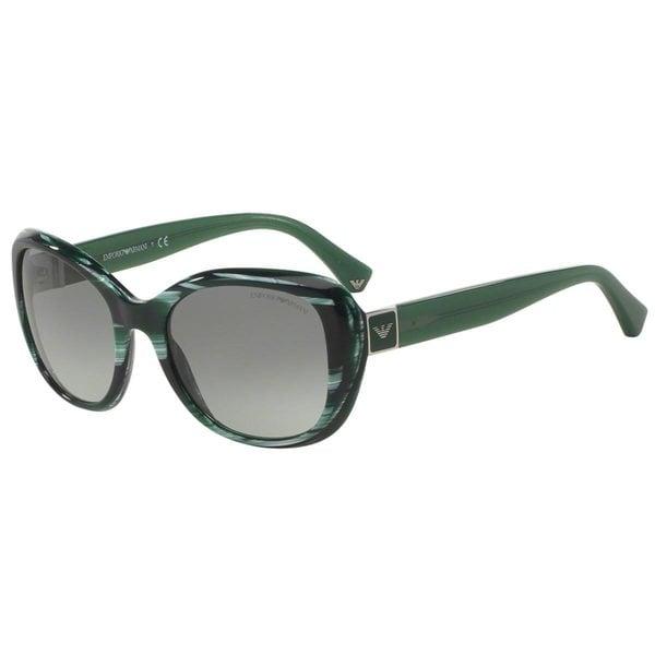 Emporio Armani Women's EA4052 Green Plastic Square Sunglasses