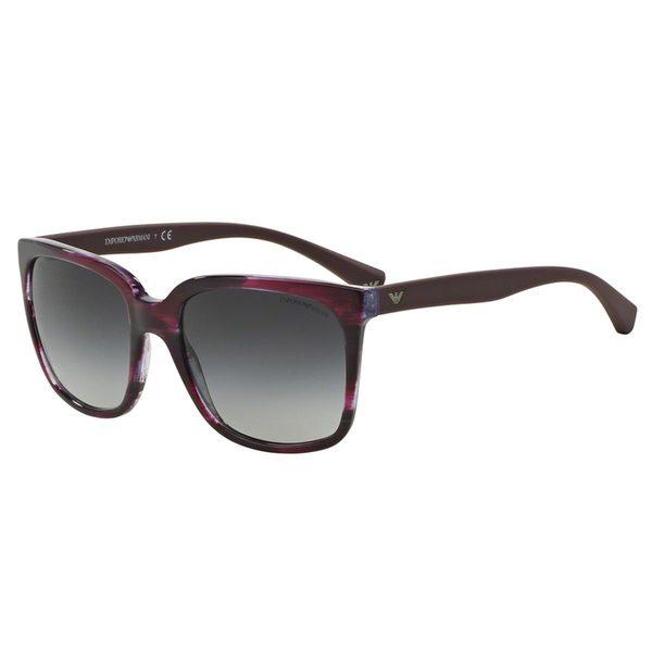 Emporio Armani Women's EA4049 Violet Plastic Square Sunglasses