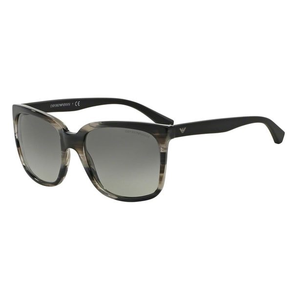 Emporio Armani Women's EA4049 Grey Plastic Square Sunglasses
