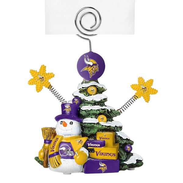 Minnesota Vikings Cast Porcelain Tree Photo Holder