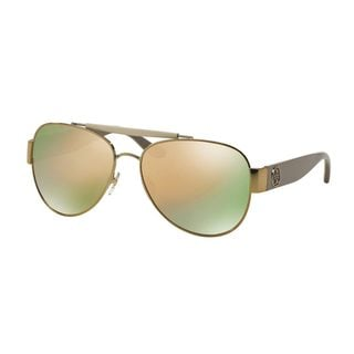 Tory Burch Women's TY6043Q Gold Metal Pilot Sunglasses
