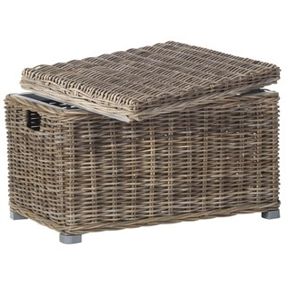 Safavieh Mikasi Grey Natural Rattan Storage Trunk