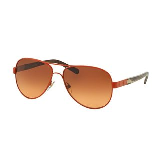 Tory Burch Women's TY6010 Orange Metal Pilot Sunglasses
