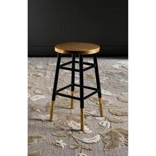 Safavieh Emery Black/ Gold 24-inch Counter Stool
