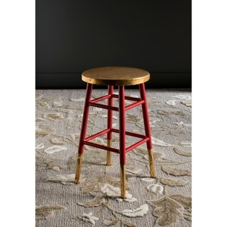 Safavieh Emery Red/ Gold 24-inch Counter Stool