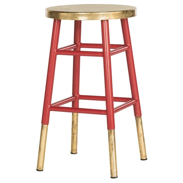 Safavieh 24 Inch Emery Red Gold Counter Stool 17896639