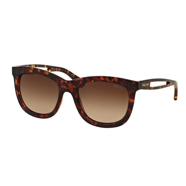 Ralph by Ralph Lauren Women's RA5205 Tortoise Plastic Square Sunglasses
