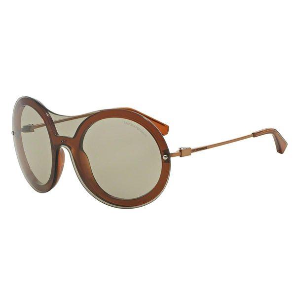 Emporio Armani Women's EA4055 Red Plastic Round Sunglasses