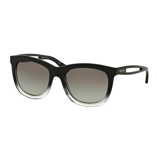 Ralph by Ralph Lauren Women's RA5205 Black Plastic Square Sunglasses