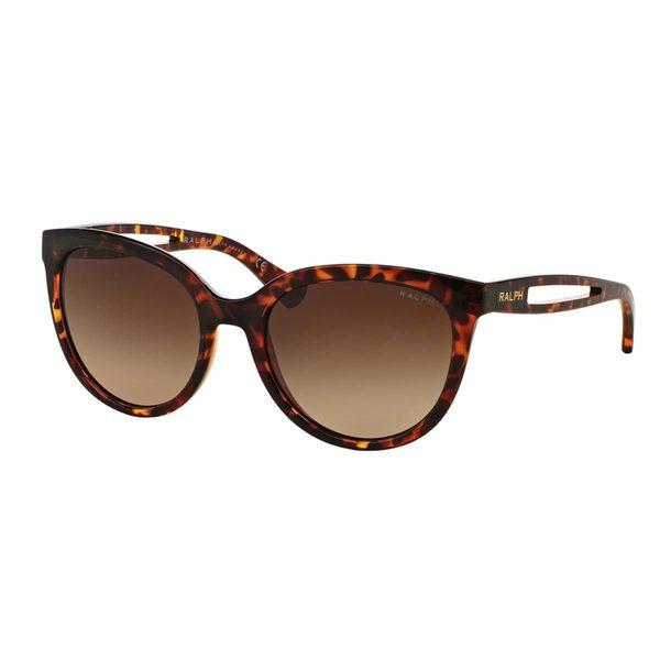 Ralph by Ralph Lauren Women's RA5204 Tortoise Plastic Round Sunglasses