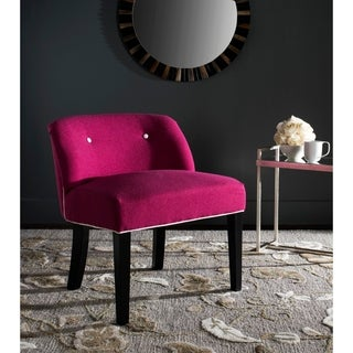 Safavieh Bell Berry/ White Polyester Vanity Chair