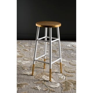 Safavieh 30-inch Emery White/ Gold Bar Stool