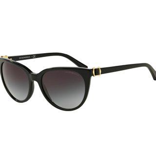 Emporio Armani Women's EA4057 Black Plastic Cat Eye Sunglasses