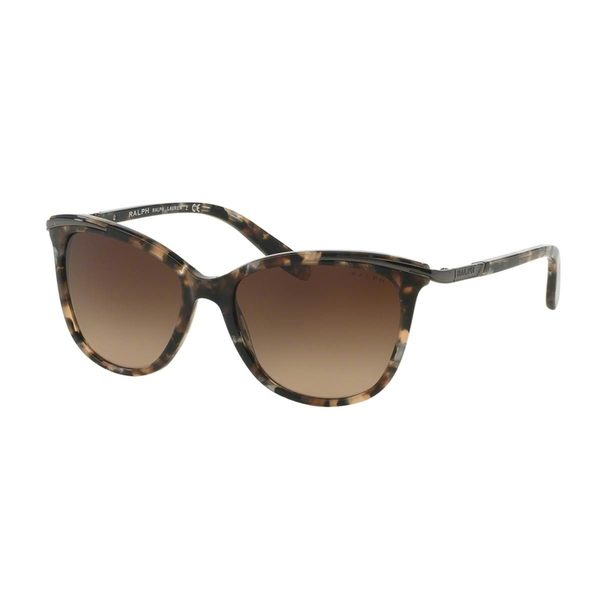 Ralph by Ralph Lauren Women's RA5203 Brown Plastic Cat Eye Sunglasses