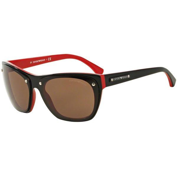 Emporio Armani Women's EA4059 Black Plastic Irregular Sunglasses