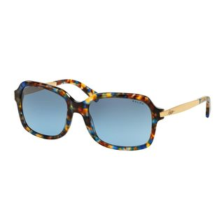 Ralph by Ralph Lauren Women's RA5202 Blue Plastic Rectangle Sunglasses