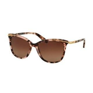 Ralph by Ralph Lauren Women's RA5203 1463T5 Pink Plastic Cat Eye Polarized Sunglasses