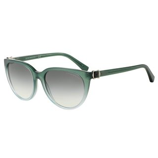 Emporio Armani Women's EA4057 Green Plastic Cat Eye Sunglasses