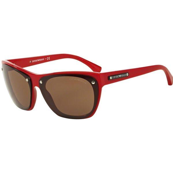 Emporio Armani Women's EA4059 Red Plastic Irregular Sunglasses