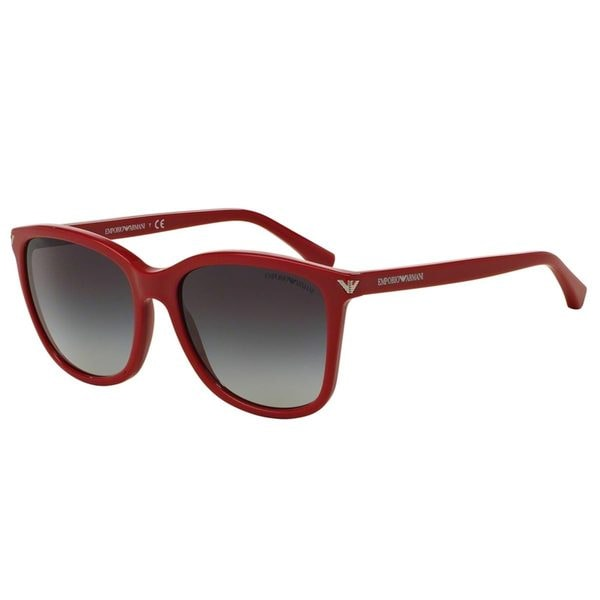 Emporio Armani Women's EA4060 Red Plastic Square Sunglasses