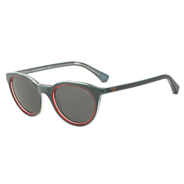 Emporio Armani Women's EA4061 Green Plastic Round Sunglasses