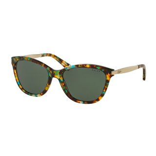 Ralph by Ralph Lauren Women's RA5201 Tortoise Plastic Cat Eye Sunglasses